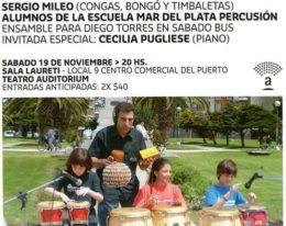 Sergio Mileo & Percusión en Familia! Sábado 19 Mar del Plata!