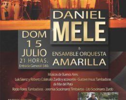 Orquesta Amarilla de Daniel Mele en el teatro Colon de Mar del Plata! Percusión en su punto justo!