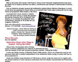 "Lo nuevo de Choco Orta ""Killing Me Soflty""- Salsa"