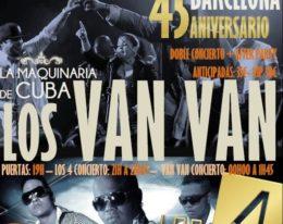 Los Van Van junto a Los 4! Gran Gala en Barcelona!