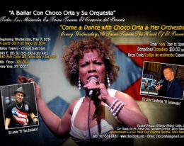 Próximas actividades de Choco Orta y su Orquesta