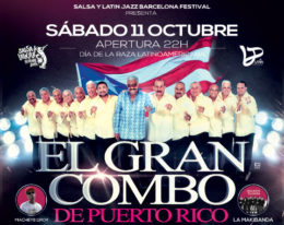 Gran Combo de Puerto Rico Vuelve a Barcelona  11 de Octubre