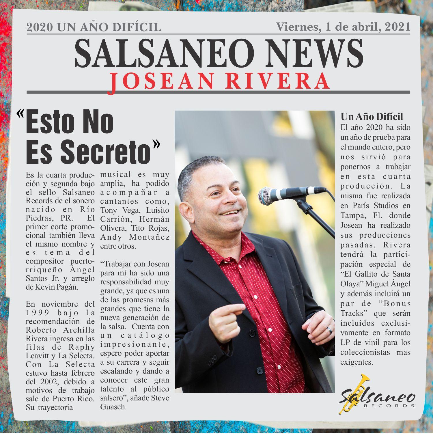 "Josean Rivera ""Esto No Es Secreto"""
